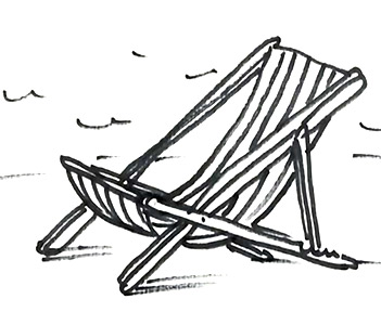 How To Draw A Deck Chair Real Easy