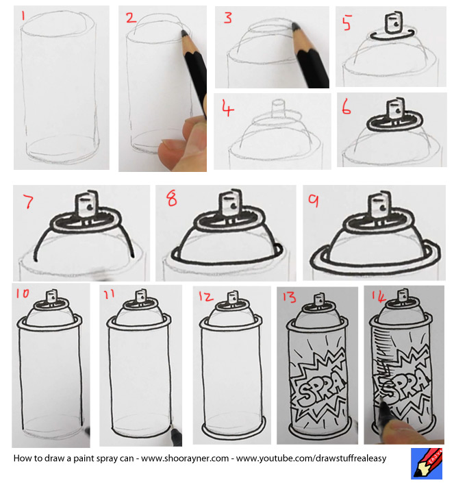 Spray Paint Drawings How to Draw a Spray Can