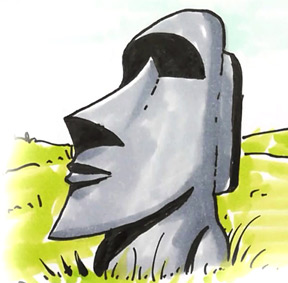 How To Draw An Easter Island Statue Shoo Rayner Author