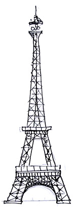 eiffeltower this is not the easiest thing in the world to draw but with a bit of practice i worked out the basics to get it looking right