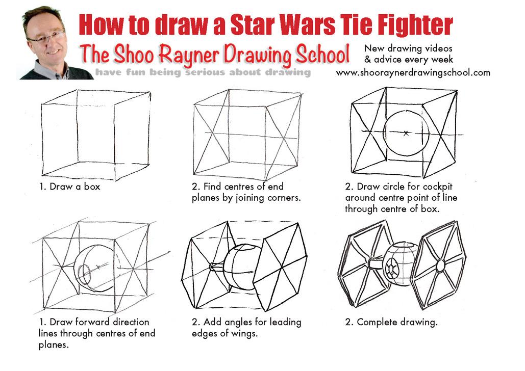 Поэтапные рисунки звездные войны