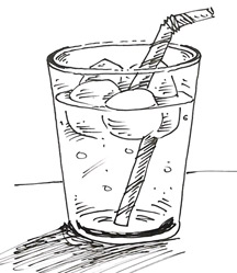 Glass Of Water Drawing Easy Sketch Coloring Page