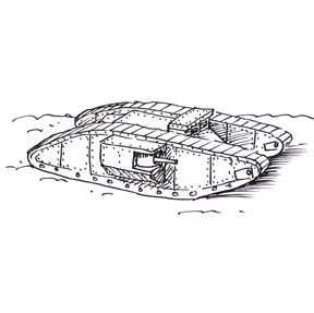 draw a ww1 tanksml