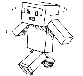 How To Draw A Minecraft Person Shoo Rayner Author