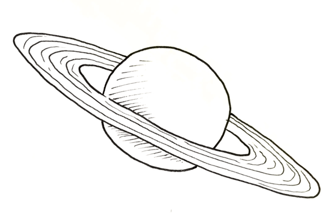 saturn planet drawing  page 2