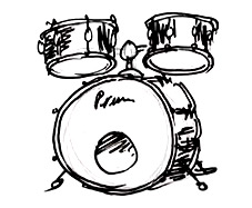 Learn How To Draw Drum Kit Real Easy